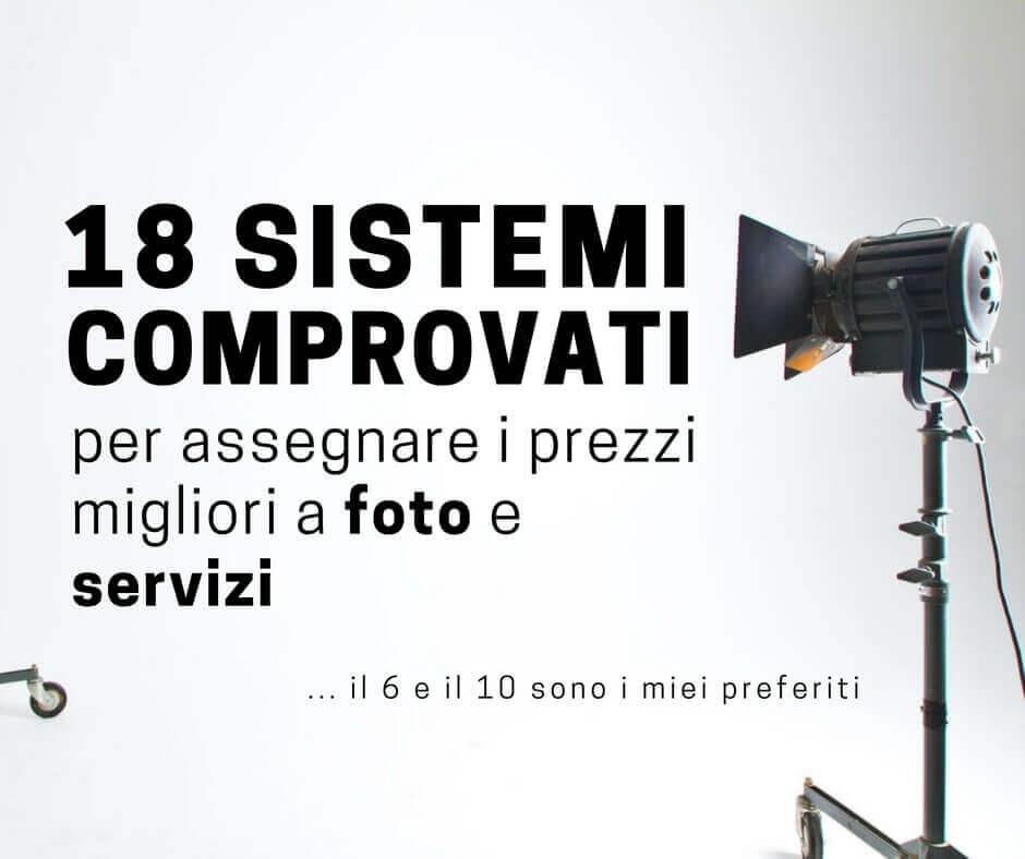 prezzi in fotografia 18 sistemi