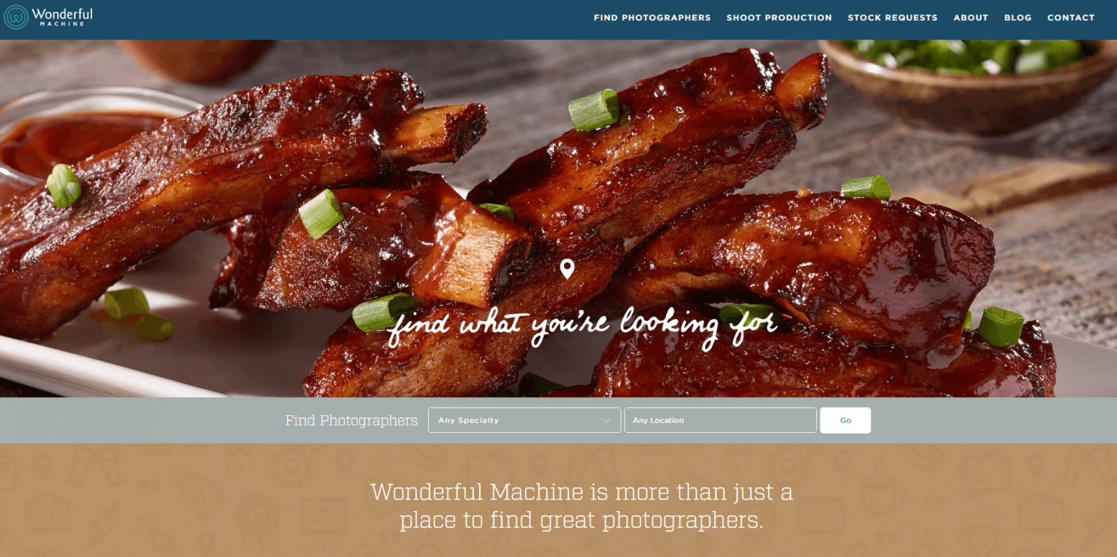 wonderful machine home page portfolio fotografico
