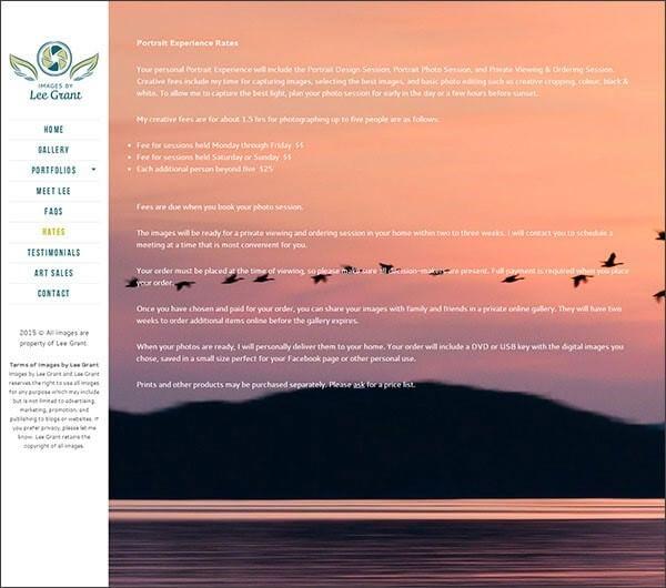 sito fotografico immagini di sfondo screenshot